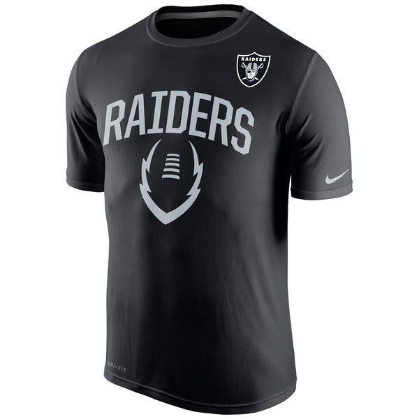 Men NFL Oakland Raiders Nike Legend Icon Performance TShirt Black