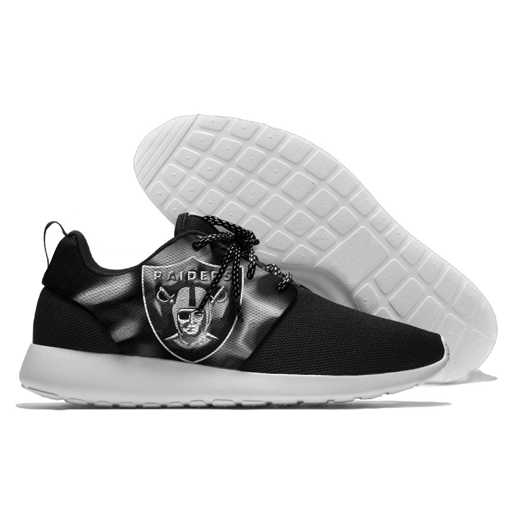 Men NFL Oakland Raiders Roshe style Lightweight Running shoes 2