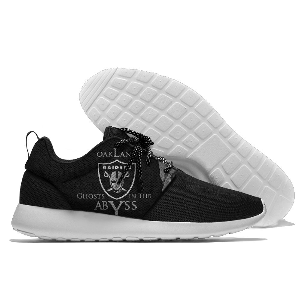 Men NFL Oakland Raiders Roshe style Lightweight Running shoes 4