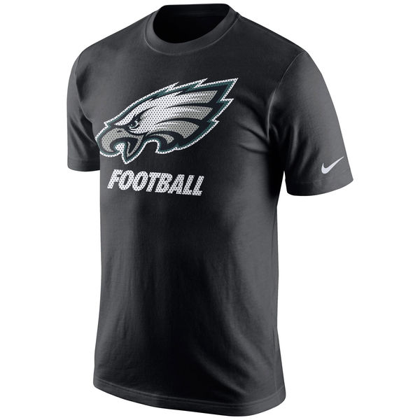 Men NFL Philadelphia Eagles Nike Facility TShirt Black
