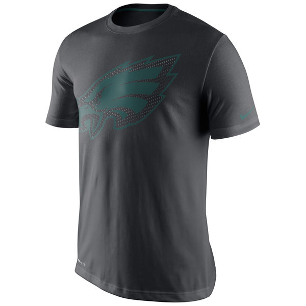 Men NFL Philadelphia Eagles Nike Team Travel Performance TShirt Charcoal