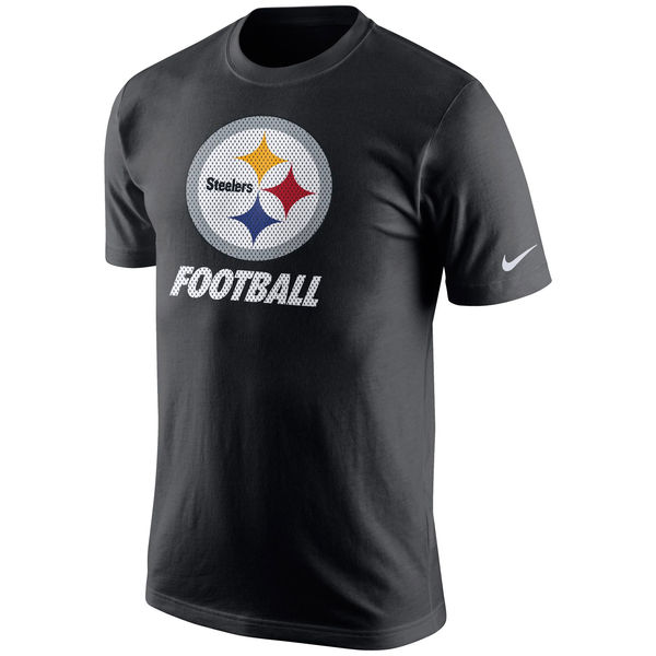 Men NFL Pittsburgh Steelers Nike Facility TShirt Black