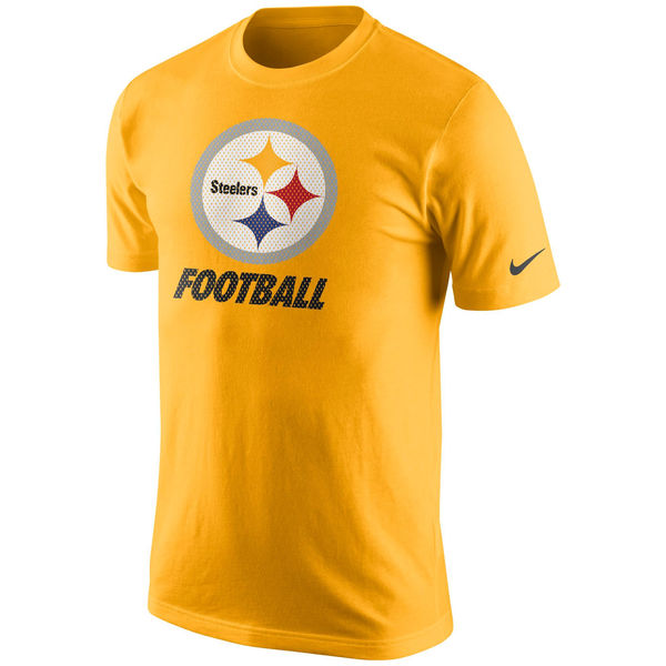 Men NFL Pittsburgh Steelers Nike Facility TShirt Gold