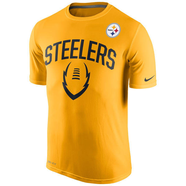 Men NFL Pittsburgh Steelers Nike Legend Icon Performance TShirt Gold