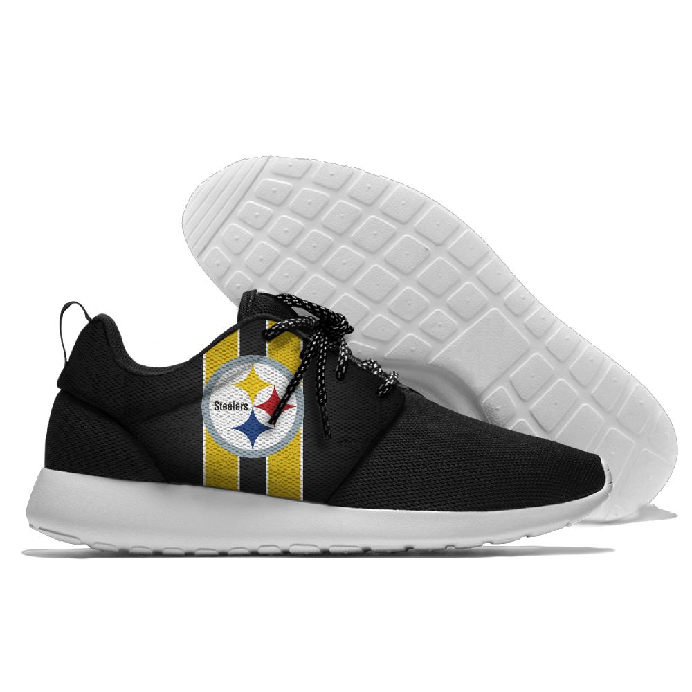 Men NFL Pittsburgh Steelers Roshe style Lightweight Running shoes 5