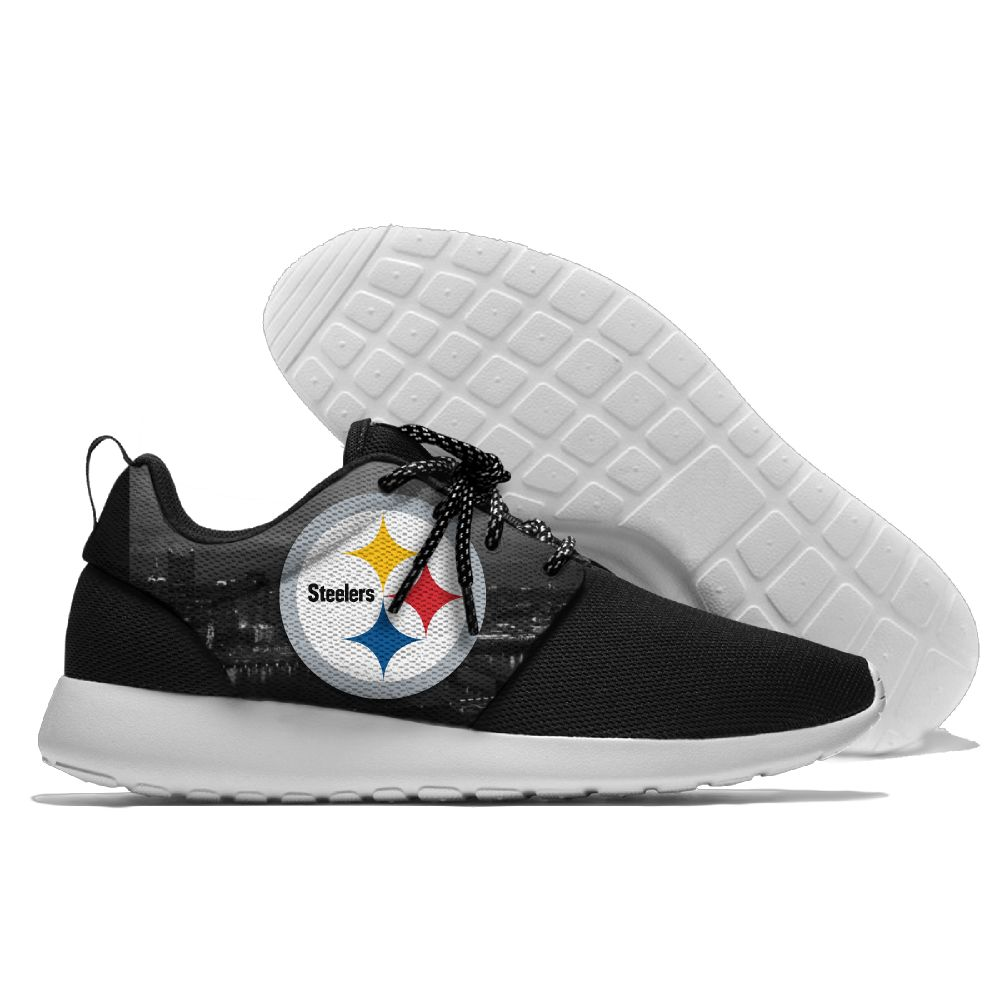Men NFL Pittsburgh Steelers Roshe style Lightweight Running shoes 9