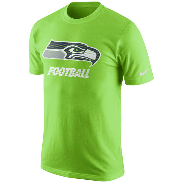 Men NFL Seattle Seahawks Nike Facility TShirt Neon Green