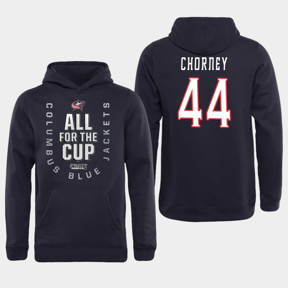 Men NHL Adidas Columbus Blue Jackets 44 Chorney black All for the Cup Hoodie