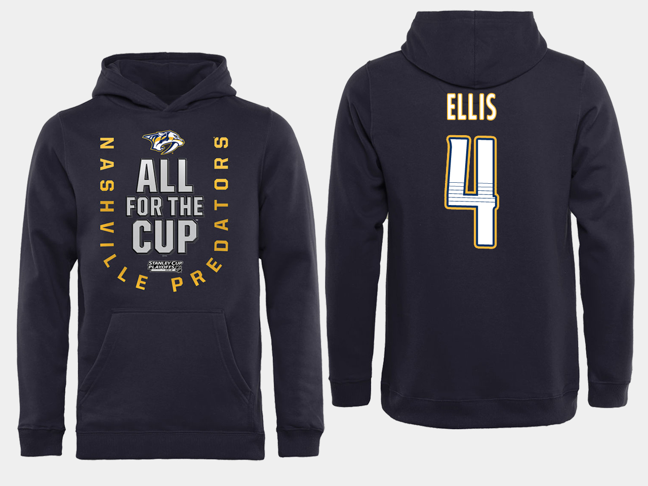 Men NHL Adidas Nashville Predators 4 Ellis black ALL for the Cup hoodie