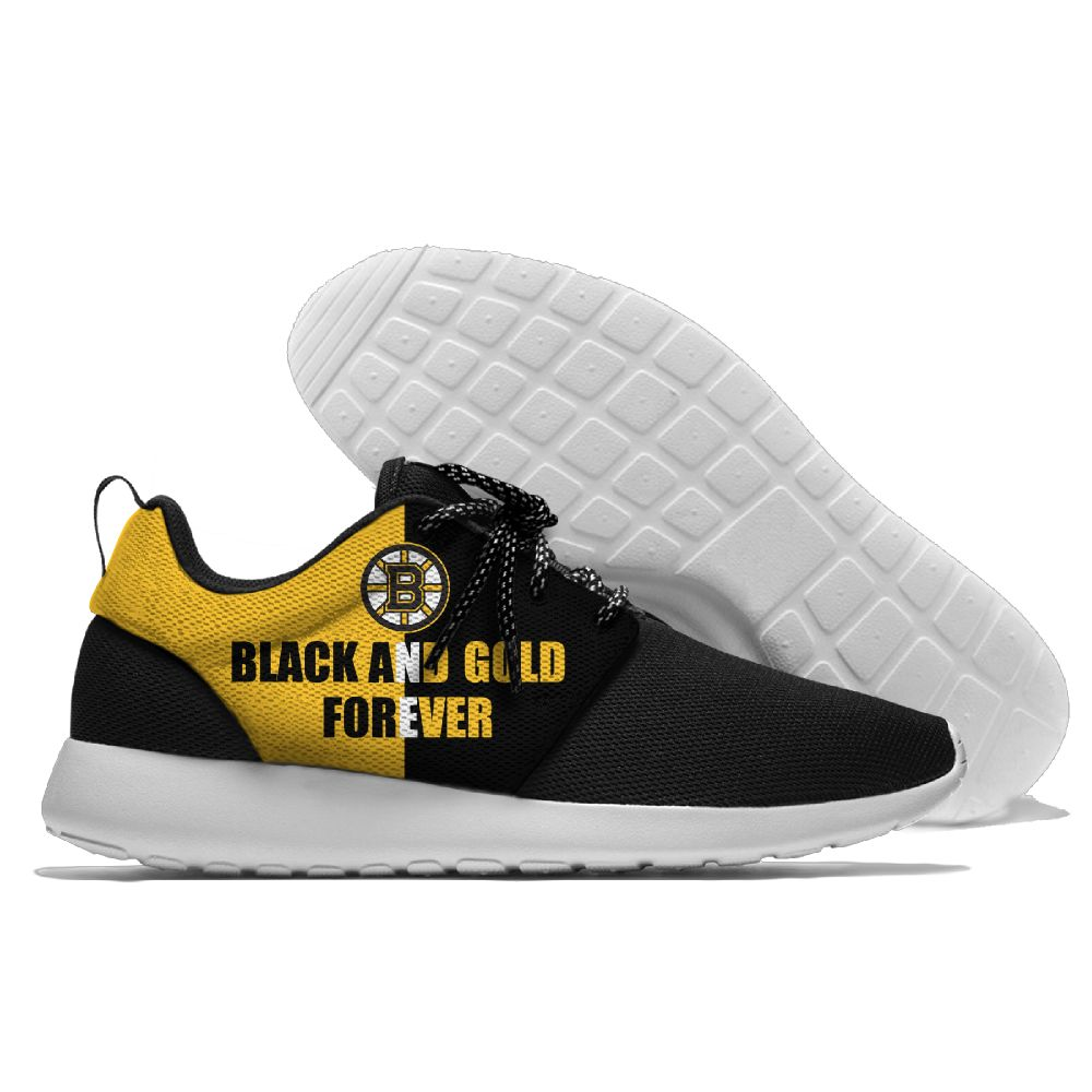 Men NHL Boston Bruins Roshe style Lightweight Running shoes 3