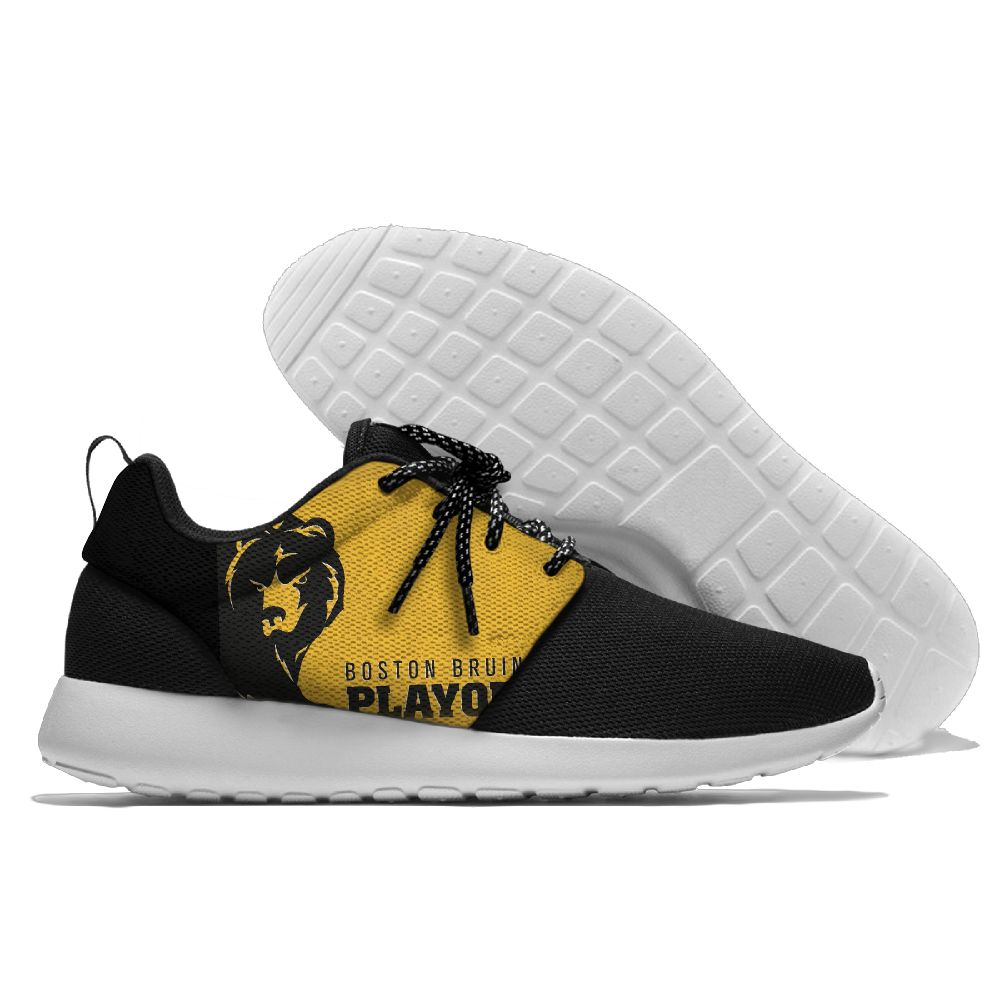 Men NHL Boston Bruins Roshe style Lightweight Running shoes 7