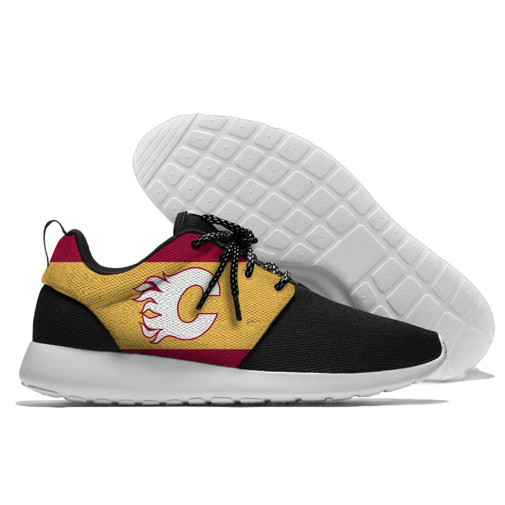 Men NHL Calgary Flames Roshe style Lightweight Running shoes 3