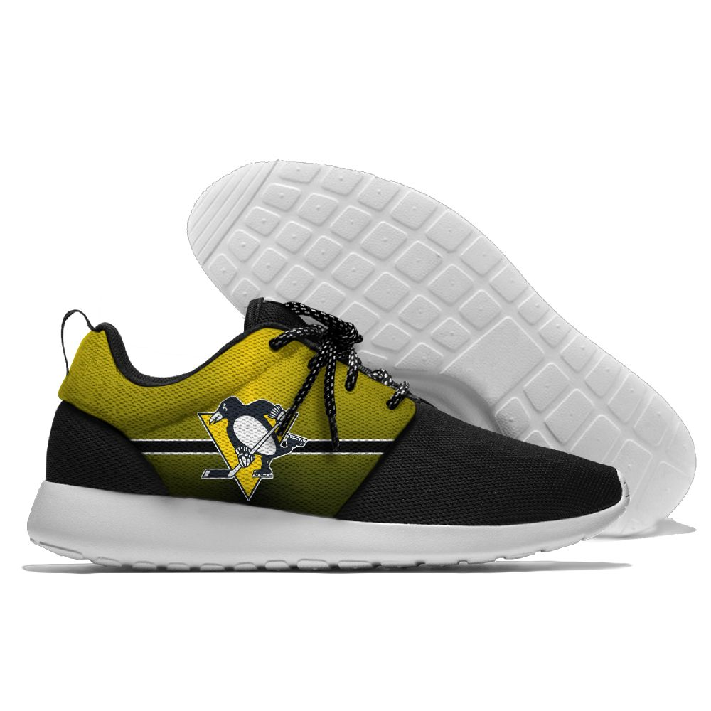 Men NHL Pittsburgh Penguins Roshe style Lightweight Running shoes 12