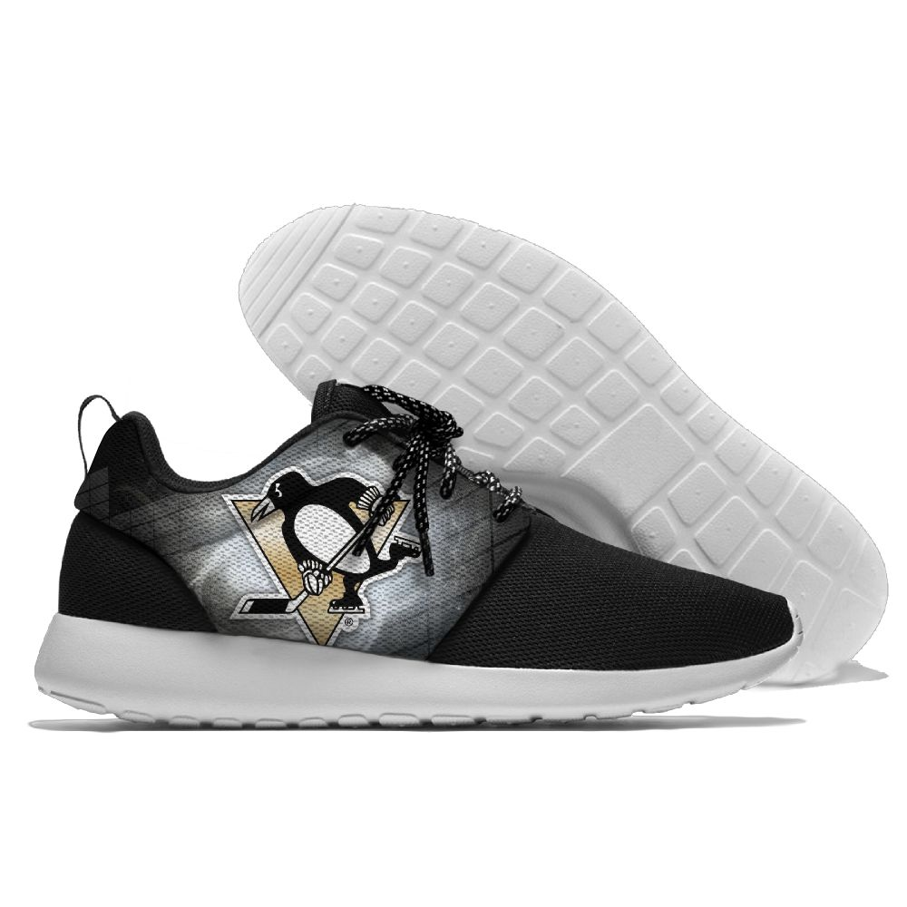 Men NHL Pittsburgh Penguins Roshe style Lightweight Running shoes 2