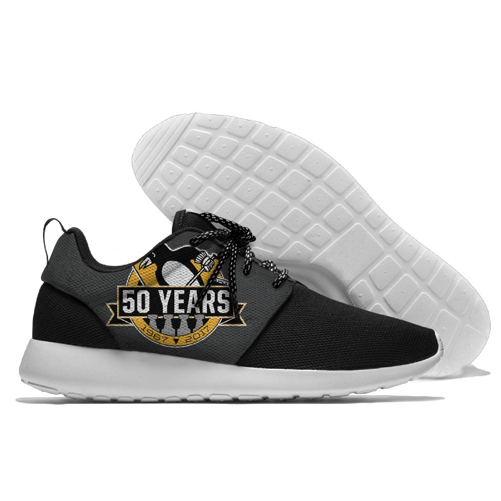 Men NHL Pittsburgh Penguins Roshe style Lightweight Running shoes 3