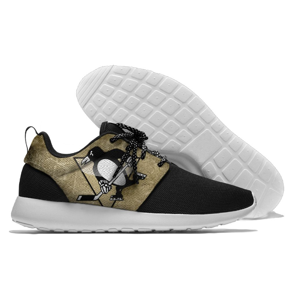 Men NHL Pittsburgh Penguins Roshe style Lightweight Running shoes 4