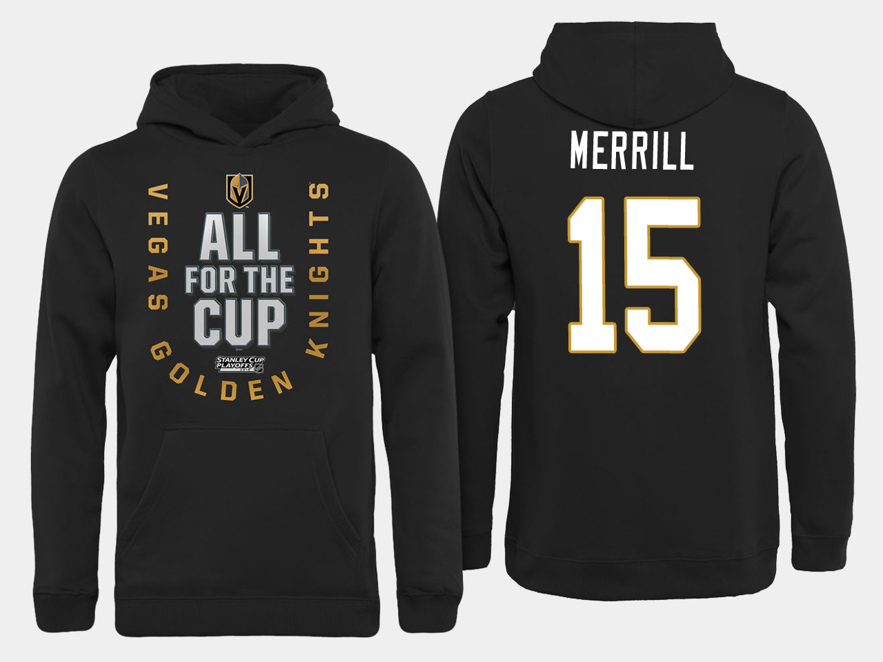 Men NHL Vegas Golden Knights 15 Merrill All for the Cup hoodie