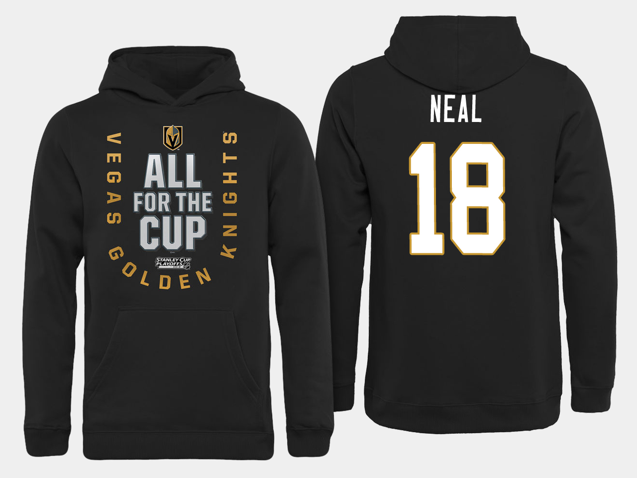 Men NHL Vegas Golden Knights 18 Neal All for the Cup hoodie