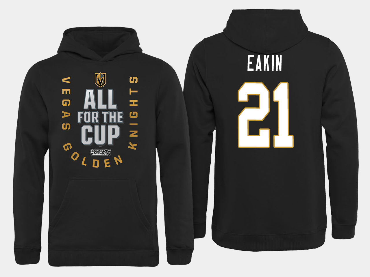 Men NHL Vegas Golden Knights 21 Eakin All for the Cup hoodie