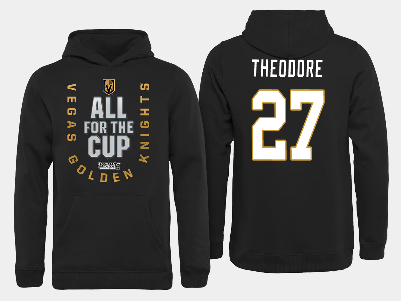 Men NHL Vegas Golden Knights 27 Theodore All for the Cup hoodie