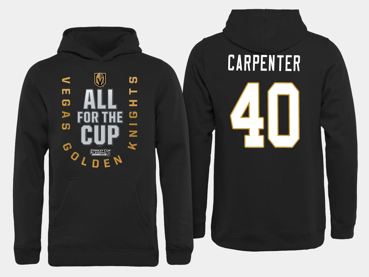 Men NHL Vegas Golden Knights 40 Carpenter All for the Cup hoodie