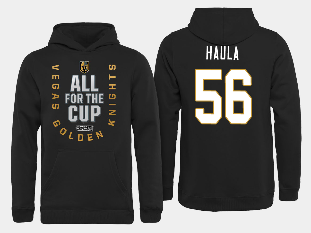 Men NHL Vegas Golden Knights 56 Haula All for the Cup hoodie