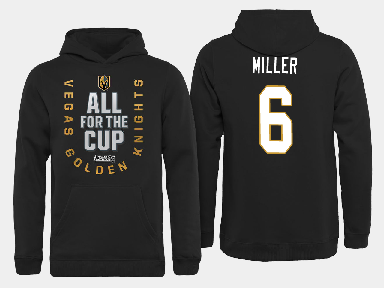 Men NHL Vegas Golden Knights 6 Miller All for the Cup hoodie