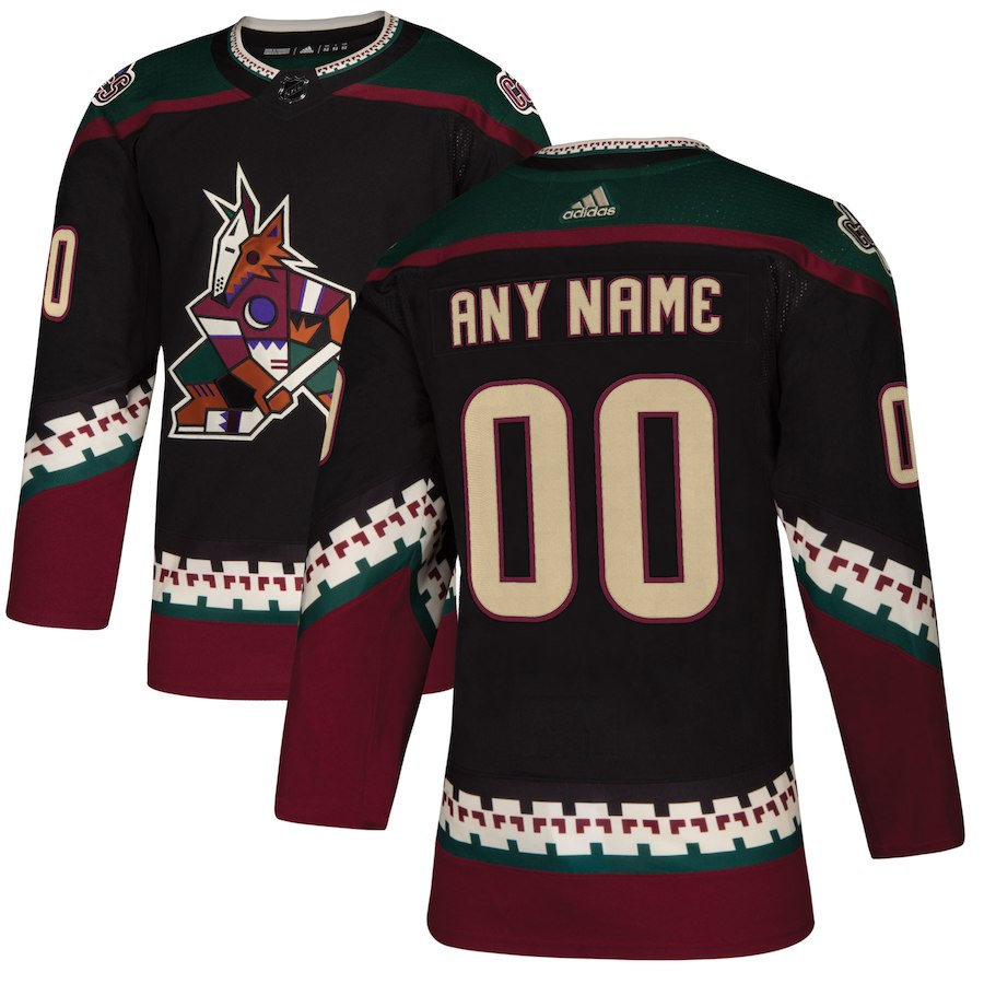 Men NHL adidas Arizona Coyotes Black Alternate Authentic Custom Jersey
