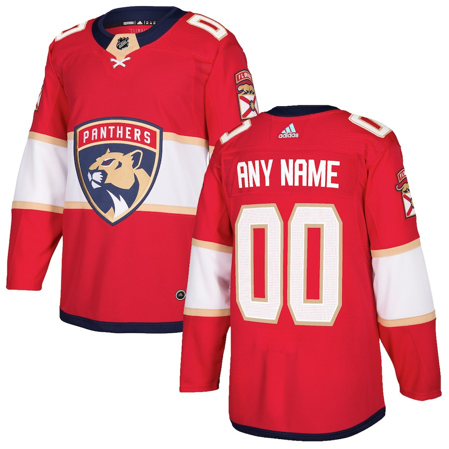 Men NHL adidas Florida Panthers Red Authentic Custom Jersey