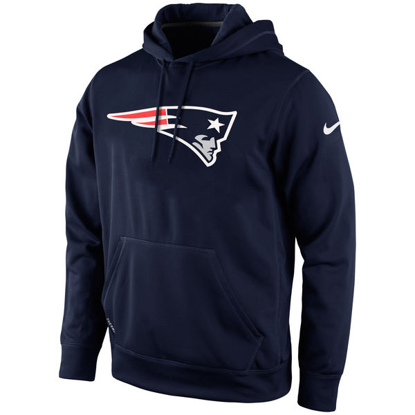 Men New England Patriots Nike KO Logo Essential Hoodie Navy Blue
