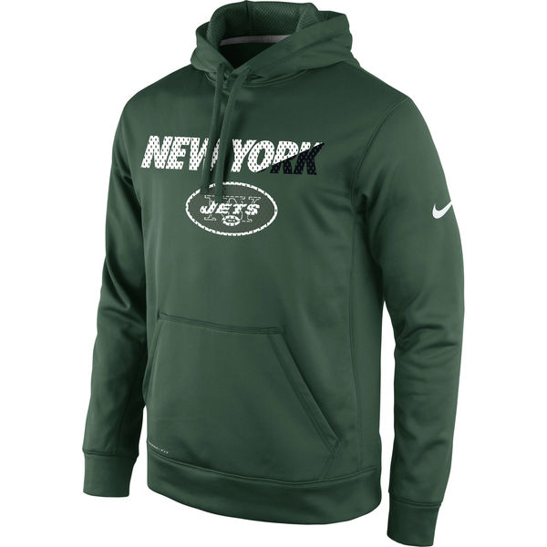 Men New York Jets Nike Kick Off Staff Performance Pullover Hoodie Green