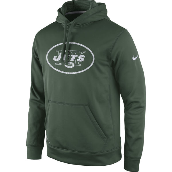 Men New York Jets Nike Practice Performance Pullover Hoodie Green