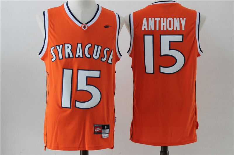 Men New York Knicks 15 Anthony Orange Nike NBA Jersey