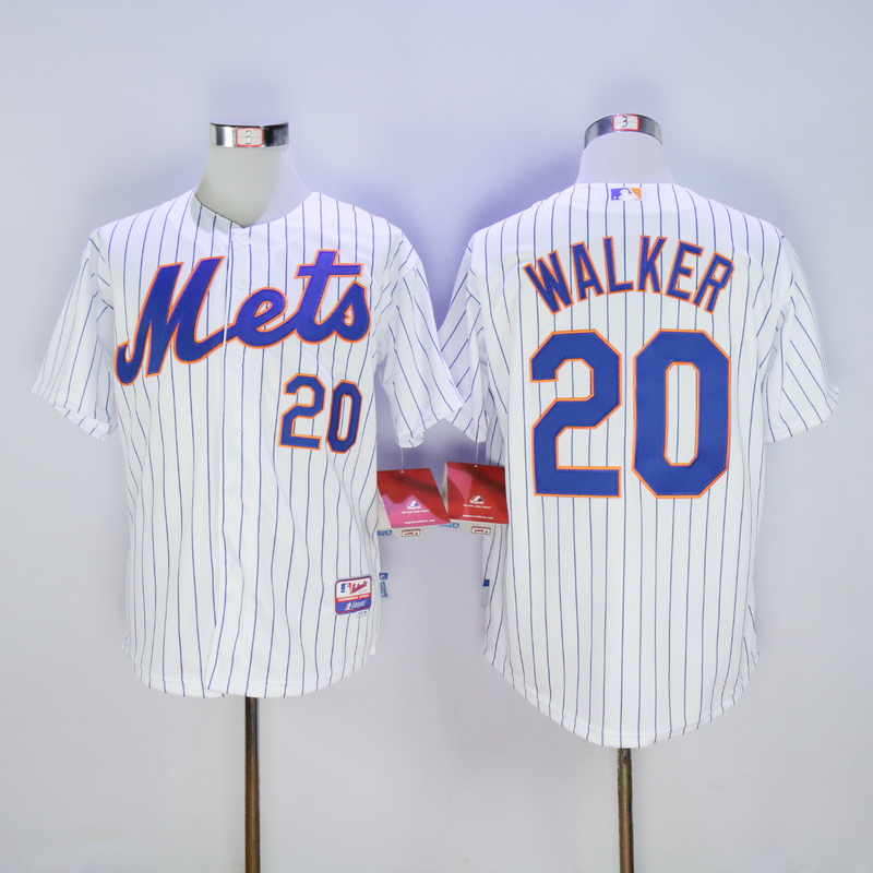 Men New York Mets 20 Walker White MLB Jerseys
