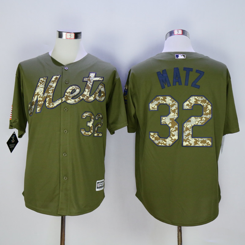 Men New York Mets 32 Matz Green MLB Jerseys
