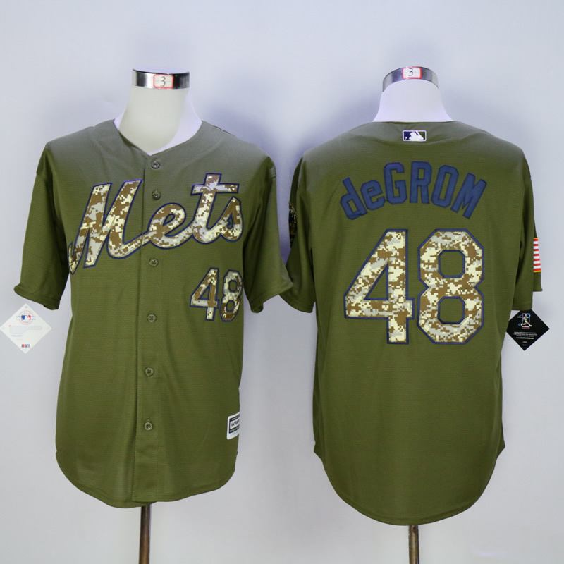 Men New York Mets 48 Degrom Green MLB Jerseys