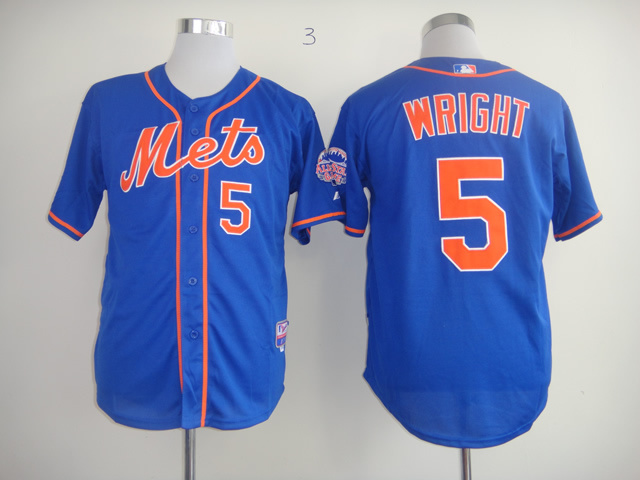 Men New York Mets 5 Wright Blue orange MLB Jerseys