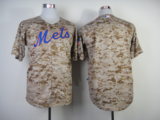 Men New York Mets Blank Camo MLB Jerseys