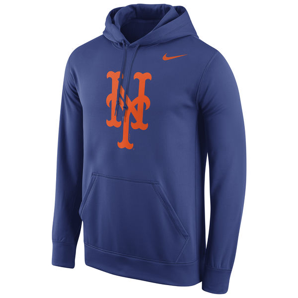 Men New York Mets Nike Logo Performance Pullover Hoodie Royal
