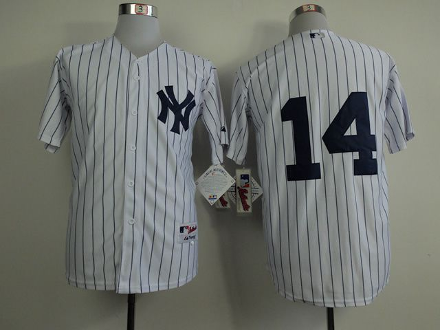 Men New York Yankees 14 No name White MLB Jerseys