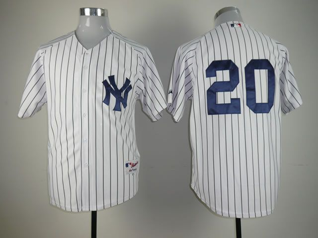 Men New York Yankees 20 No name White MLB Jerseys