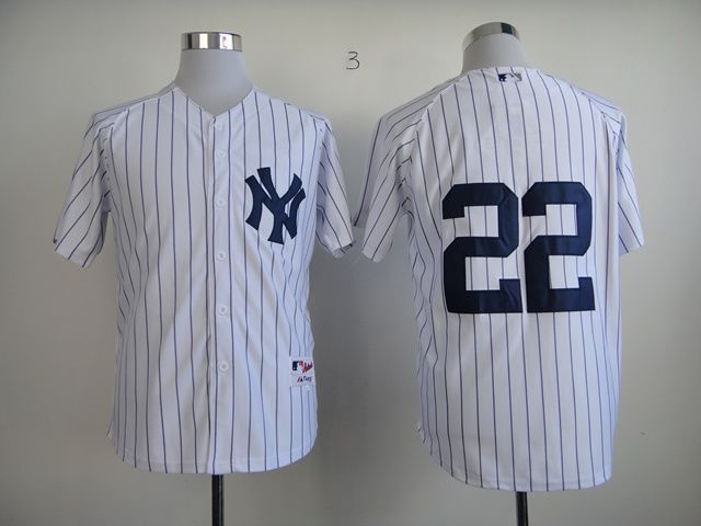 Men New York Yankees 22 No name White MLB Jerseys