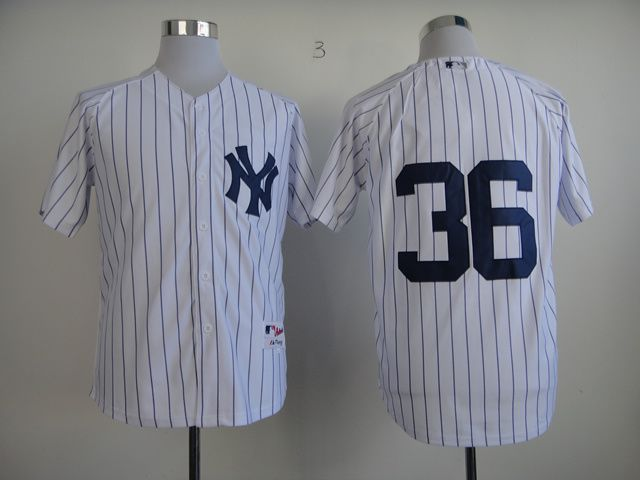 Men New York Yankees 36 No name White MLB Jerseys
