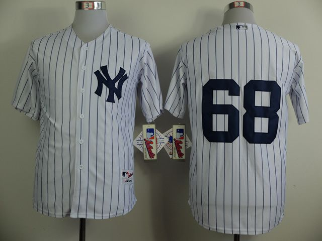 Men New York Yankees 68 Betances White MLB Jerseys