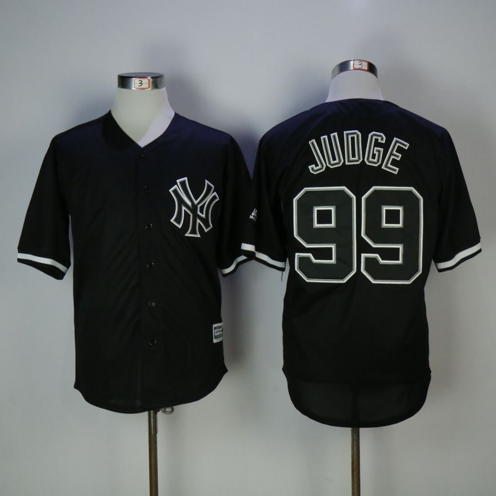 Men New York Yankees 99 Judge Black MLB Jerseys