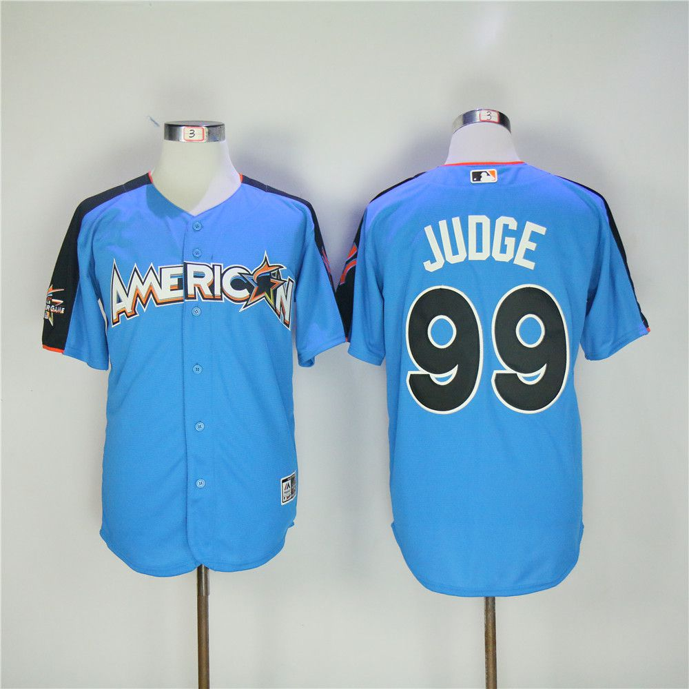 Men New York Yankees 99 Judge Blue All star MLB Jerseys