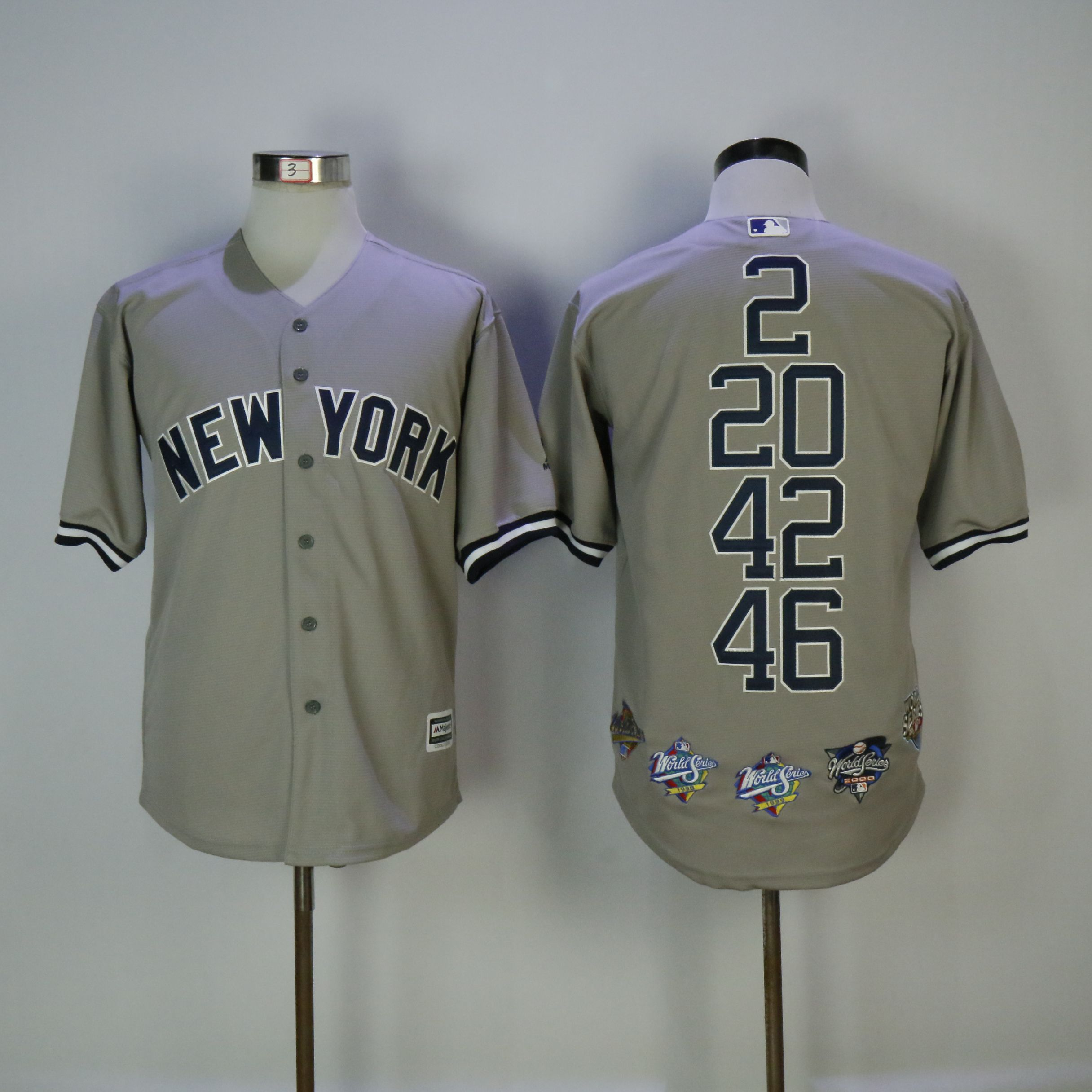 Men New York Yankees Blank Grey Mixed honor Edition MLB Jerseys