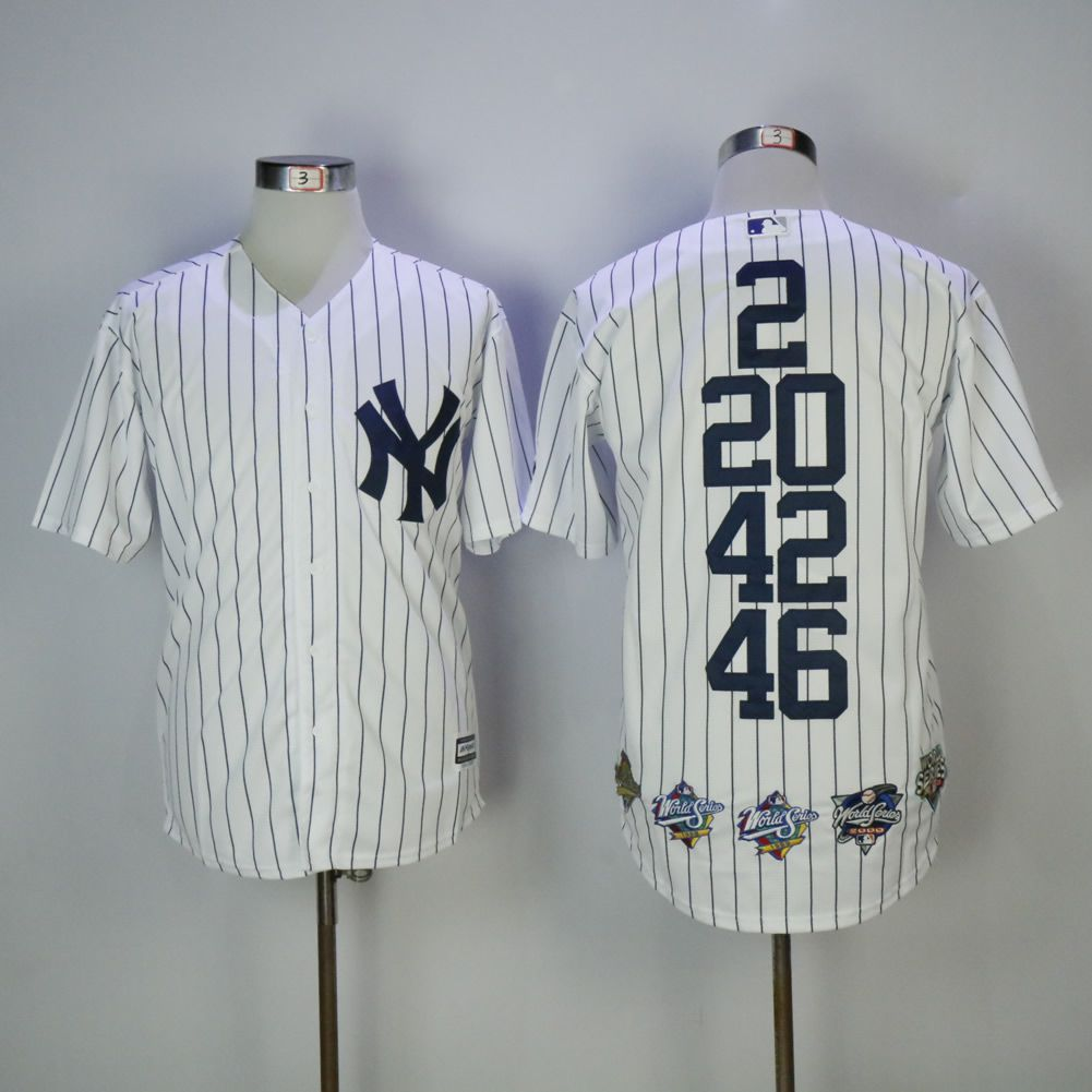 Men New York Yankees Blank White Mixed honor Edition MLB Jerseys