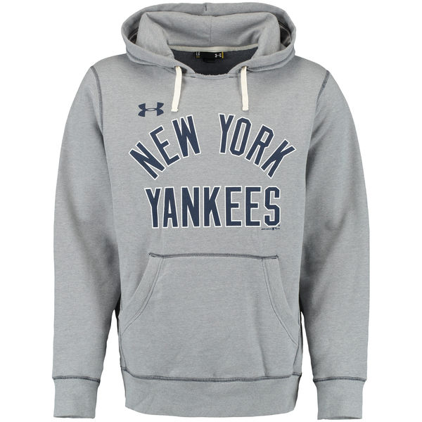 Men New York Yankees Under Armour Legacy Fleece Hoodie Gray
