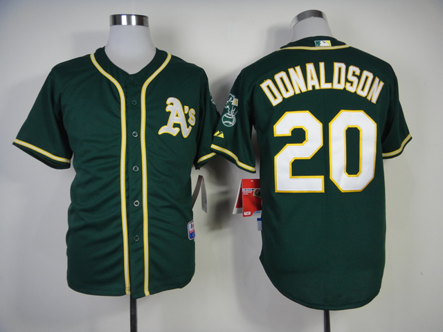 Men Oakland Athletics 20 Donaldson Green MLB Jerseys